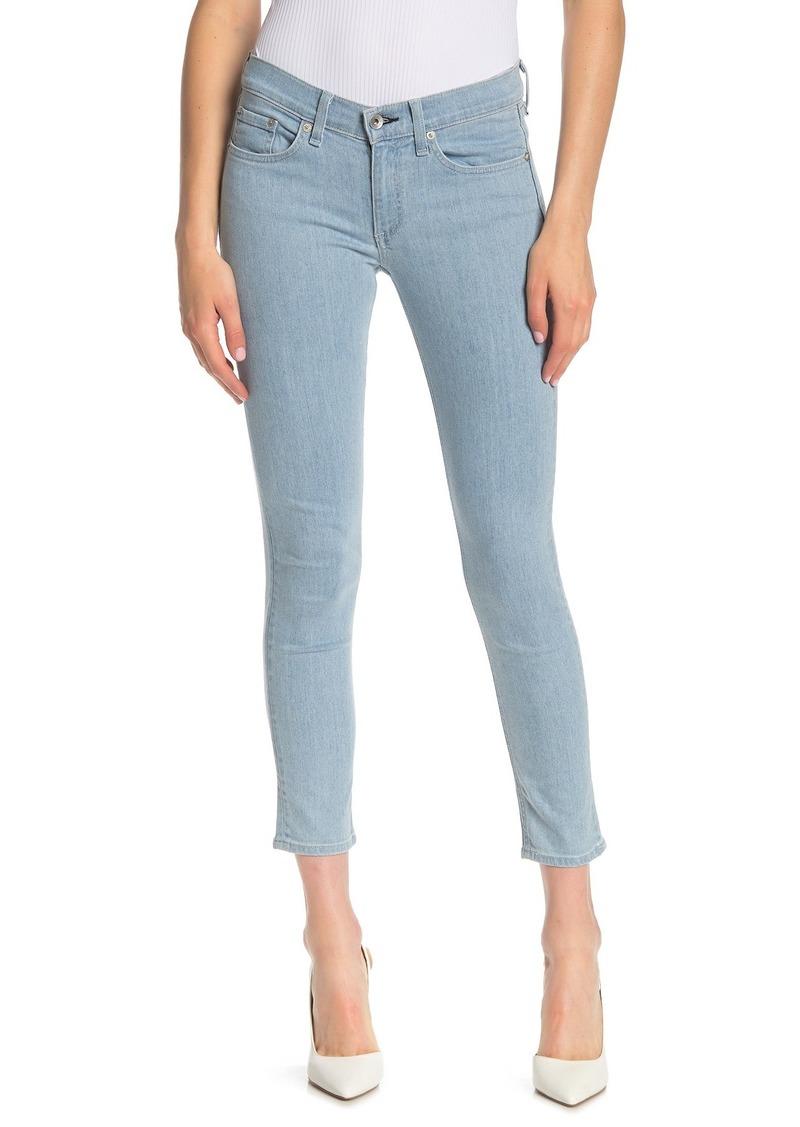rag & bone Solid Skinny Crop Jeans