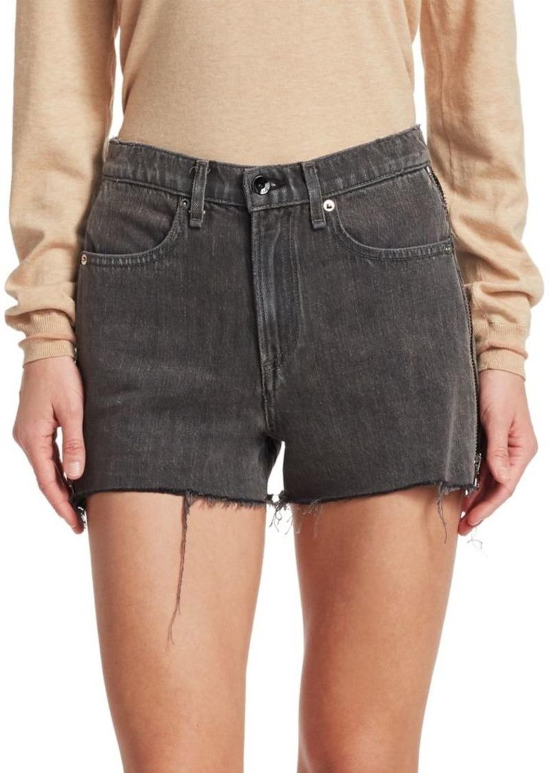 Rag & Bone Sophia Side Zip Cut Off Denim Shorts