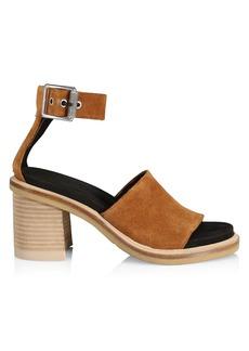 rag & bone Soren Suede Ankle-Strap Sandals