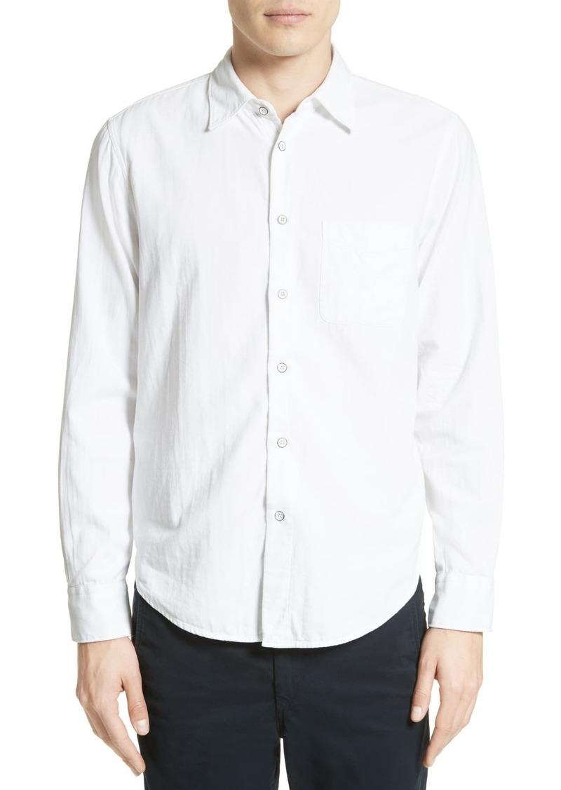 rag & bone Standard Issue Solid Trim Fit Sport Shirt