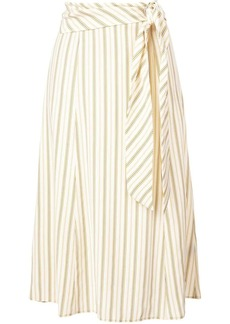 Rag & Bone striped belted skirt
