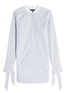Rag & Bone Striped Cotton Shirt with Bows on the Cuffs