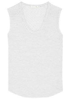 rag & bone Striped linen-blend top