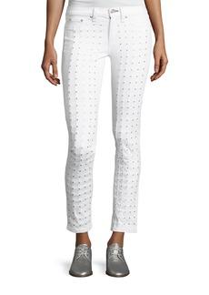 rag & bone Studded Skinny Jeans  Blanc