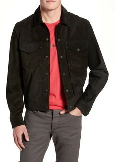 rag & bone Suede Slim Fit Trucker Jacket