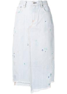 Rag & Bone Sukato stepped-hem skirt