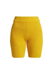 rag & bone Sunny Rib-Knit Biker Shorts