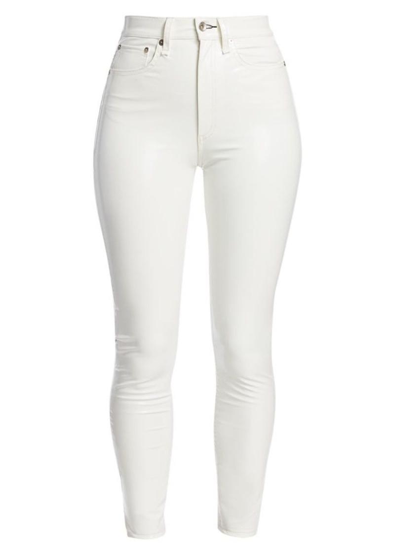 rag & bone Super High-Rise Ankle Cropped Skinny Jeans