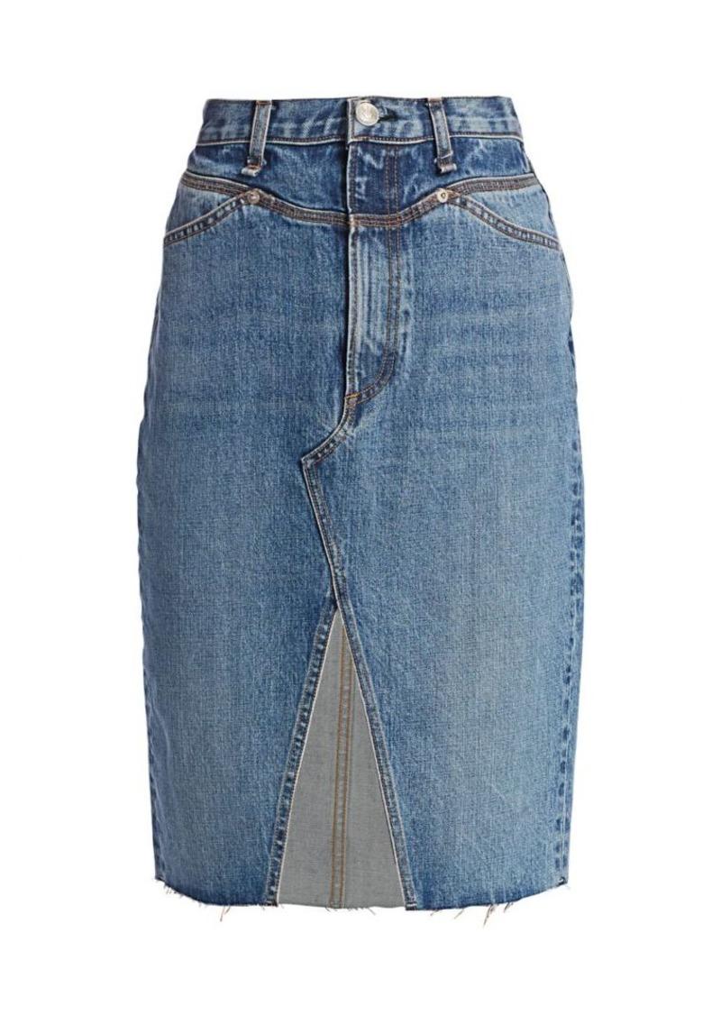 rag & bone Super High-Rise Jean Skirt