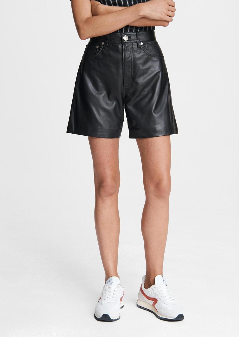 rag & bone Super High-Rise Leather Short