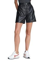 rag & bone Super High-Rise Leather Shorts