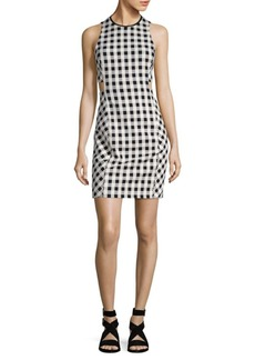 Rag & Bone Tahoe Gingham Cutout Dress