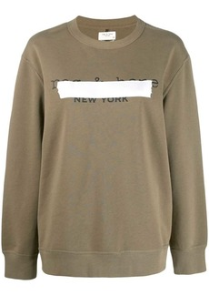 rag & bone taped logo sweater