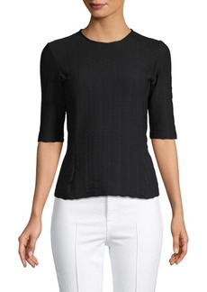 rag & bone Textured Elbow-Sleeve Top