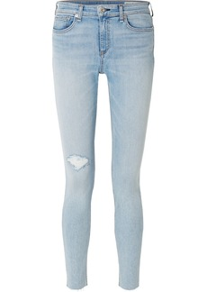Rag & Bone The Skinny Mid-rise Distressed Jeans