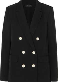 rag & bone Tia Double-breasted Crepe Blazer