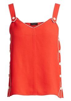 rag & bone Tia Sleeveless Button-Trimmed Tank Top