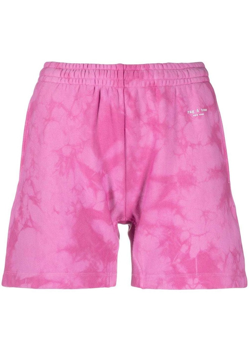 rag & bone tie-dye cotton track shorts