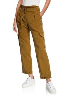 Rag & Bone Tilda Belted Straight-Leg Cargo Pants