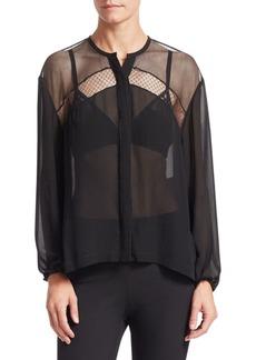 rag & bone Tommi Sheer Silk Dobby Shirt