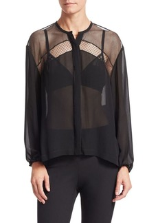rag & bone Tommi Sheer Silk Dobby Shirt