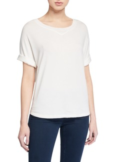rag & bone Townes Short-Sleeve Sweatshirt