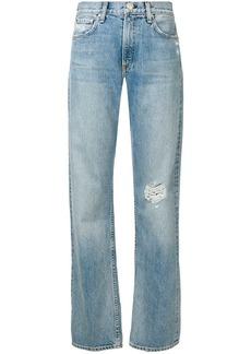 rag & bone turn-up hem straight jeans