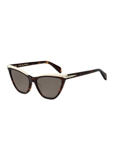 rag & bone Two-Tone Acetate Cat-Eye Sunglasses