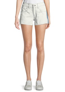 rag & bone Two-Tone Cutoff Denim Shorts