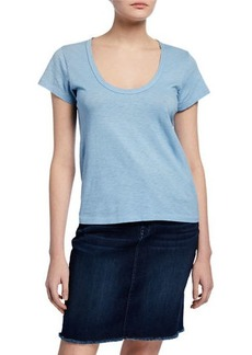 rag & bone U-Neck Short-Sleeve Cotton Tee