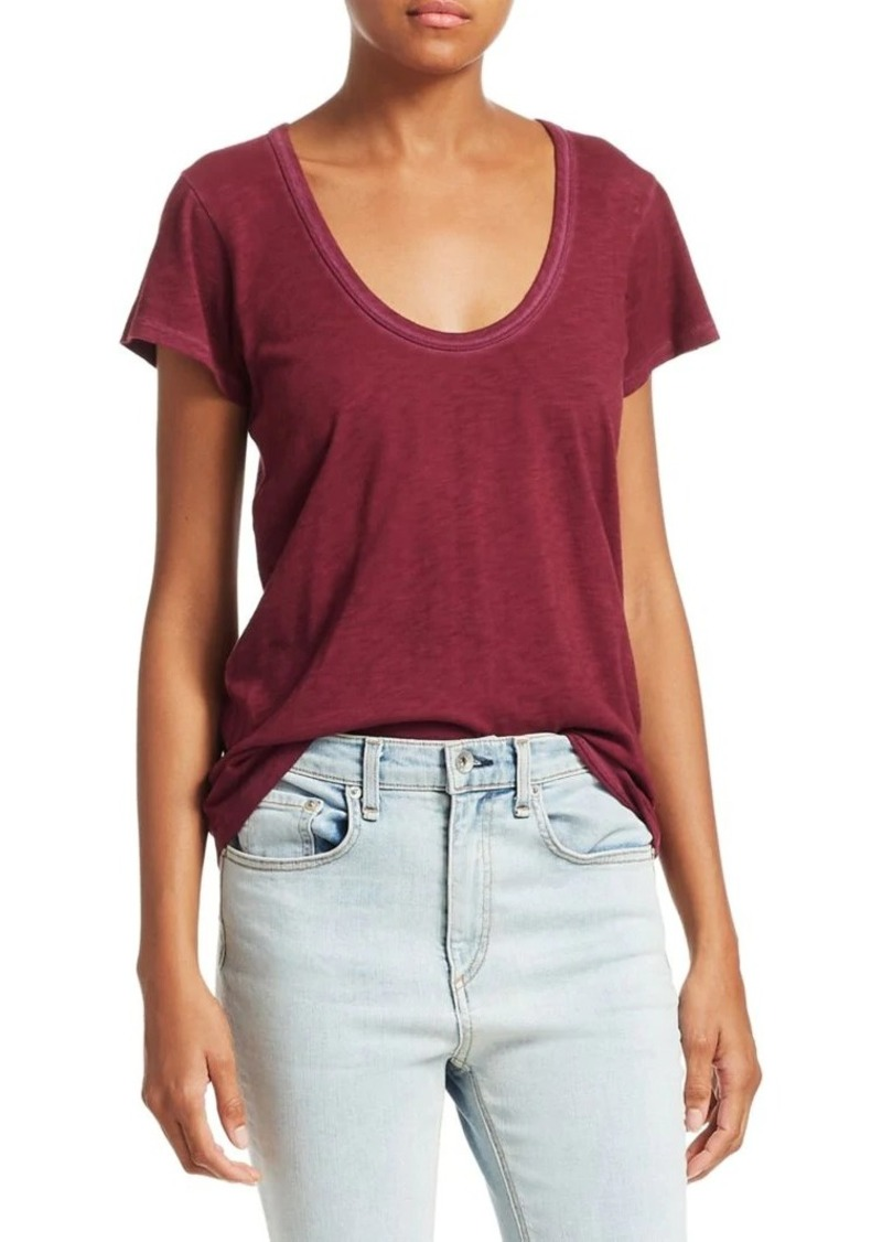 rag & bone U-Neck T-Shirt