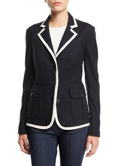 Rag & Bone Uni Button-Front Wool Blazer