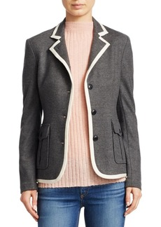 Rag & Bone Uni Contrast Piping Wool Blazer