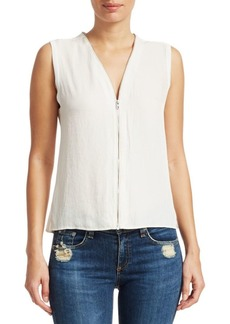 rag & bone Valarie Zip-Front Sleeveless Top