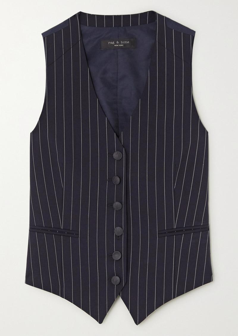 rag & bone Vanessa Pinstriped Wool-blend Vest