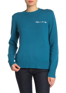 Rag & Bone Vickey Embroidered Wool & Cashmere Sweater