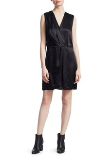 Rag & Bone Victor Silk Sleeveless Wrap Dress