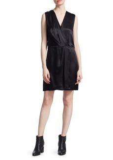 Rag & Bone Victor Silk Sleeveless Wrap Dress