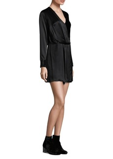 Rag & Bone Victor Silk Velvet Wrap Dress