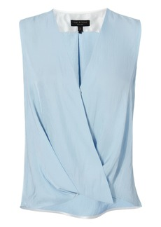 Rag & Bone Victor Sky Blue Wrap Blouse