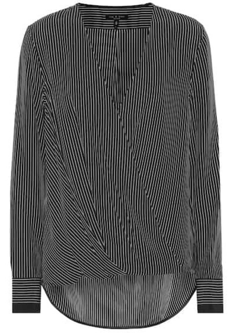 rag & bone Victor striped silk blouse