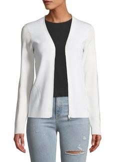 Rag & Bone Vivienne Zip-Front Merino Cardigan Sweater