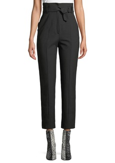 Rag & Bone Wallace High-Rise Belted Straight-Leg Pants