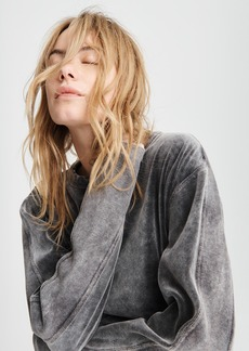 rag & bone WASHED VELOUR PULLOVER