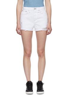 rag & bone White Denim Maya High-Rise Shorts