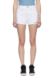 Rag & Bone White Denim Maya High-Rise Shorts