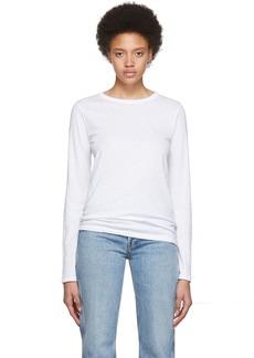 Rag & Bone White 'The Longsleeve' Long Sleeve T-Shirt