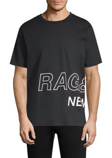 Rag & Bone Wraparound Logo Cotton T-Shirt