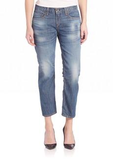 X Boyfriend Stove Pipe Cropped Jean