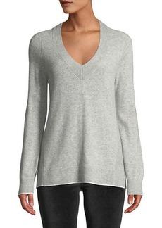 Rag & Bone Yorke Cashmere V-Neck Sweater with Mesh Panels